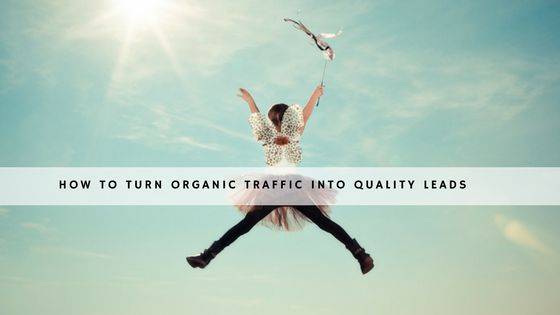 How to turn organic traffic into quality leads - header