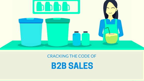 B2B sales - cracking the code to success header