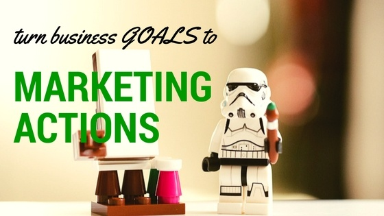business goals to action header