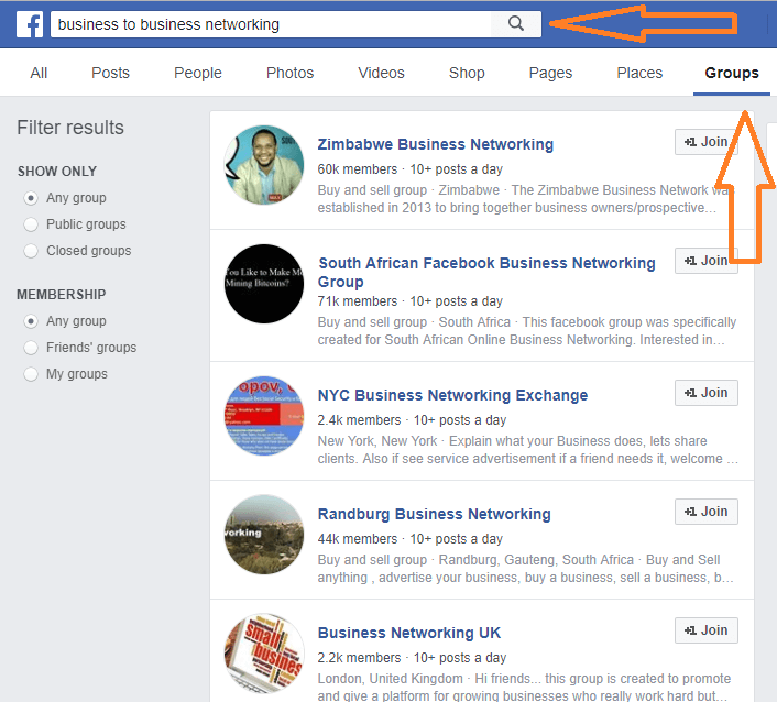 How to join groups on Facebook