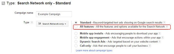 search-network-campaign-all-features-select