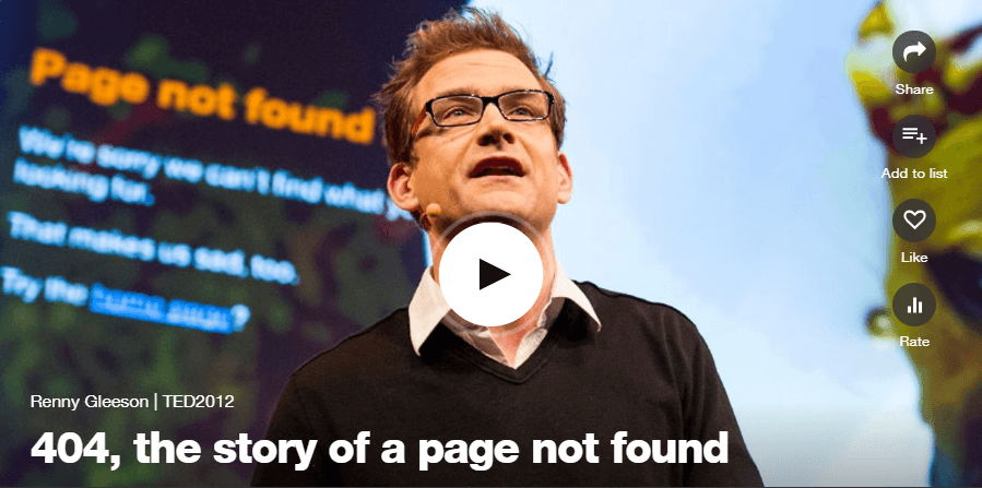 Renny Gleeson: The story of a page not found